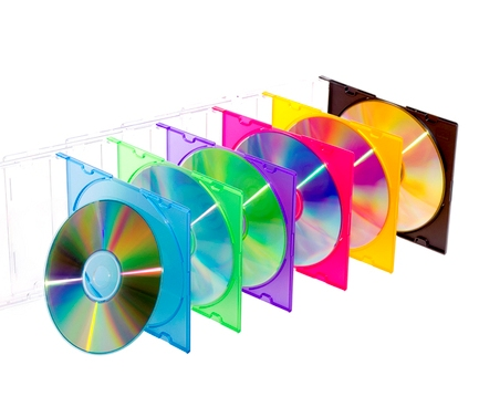 CD in colored boxes