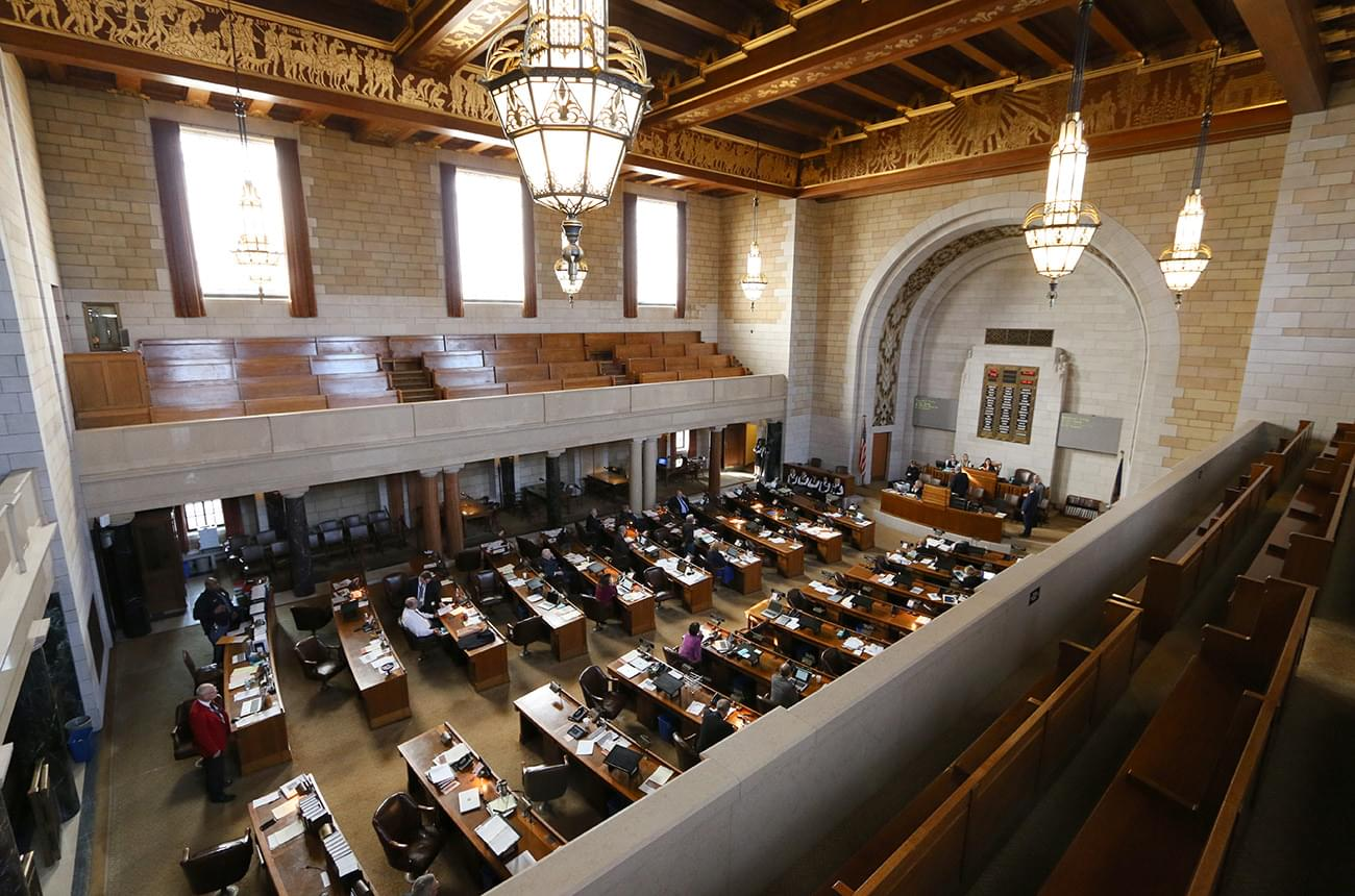 The Latest on the first day of Nebraska's 2019 legislative session