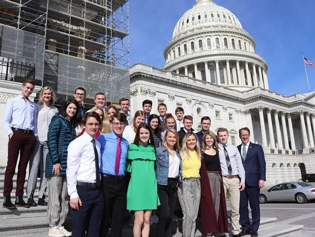 Congressman Adrian Smith welcomes Kearney Catholic High School students to Washington