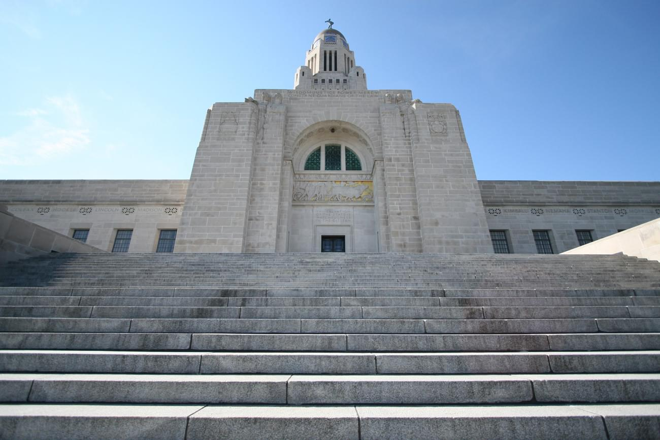 Nebraska Capitol North Steps