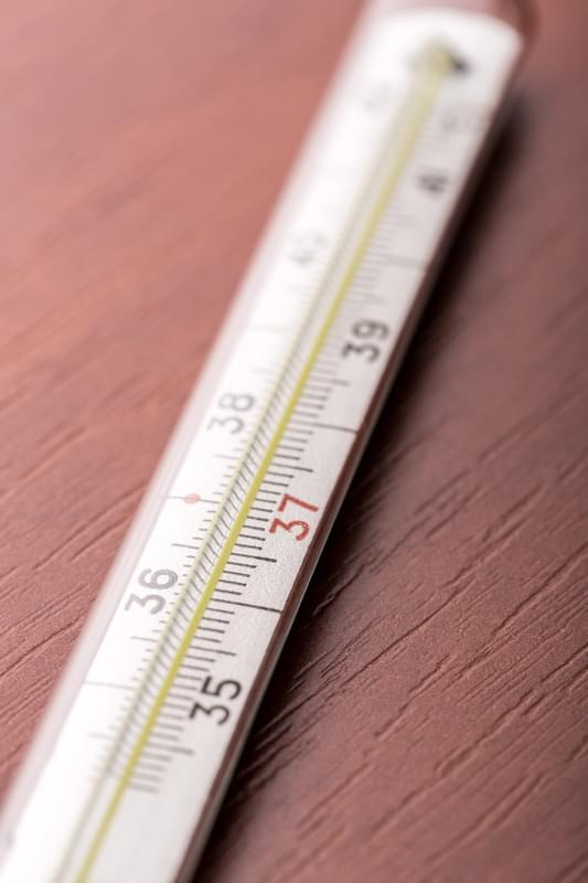 Thermometer on the table