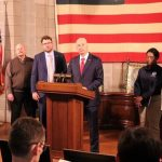 State and Federal officials providing update on floods and new severe weather