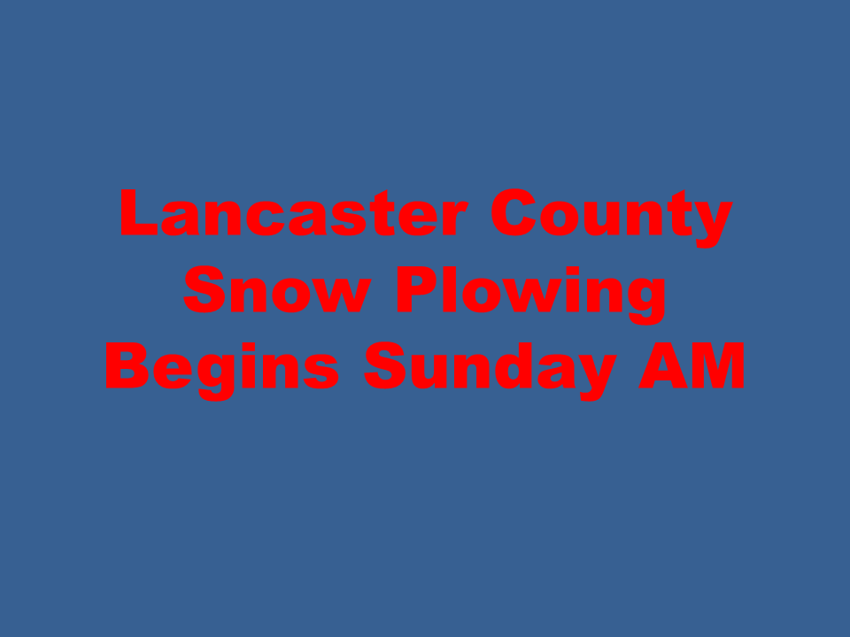 Lancaster County Snow Plowing
