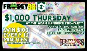 $1,000 Thursday with Security First Bank