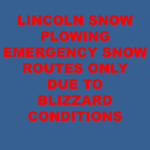 Lincoln Snow Plowing on Emergency Snow Routes Only
