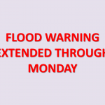Flood Warning Extended Through Monday Mid-Day