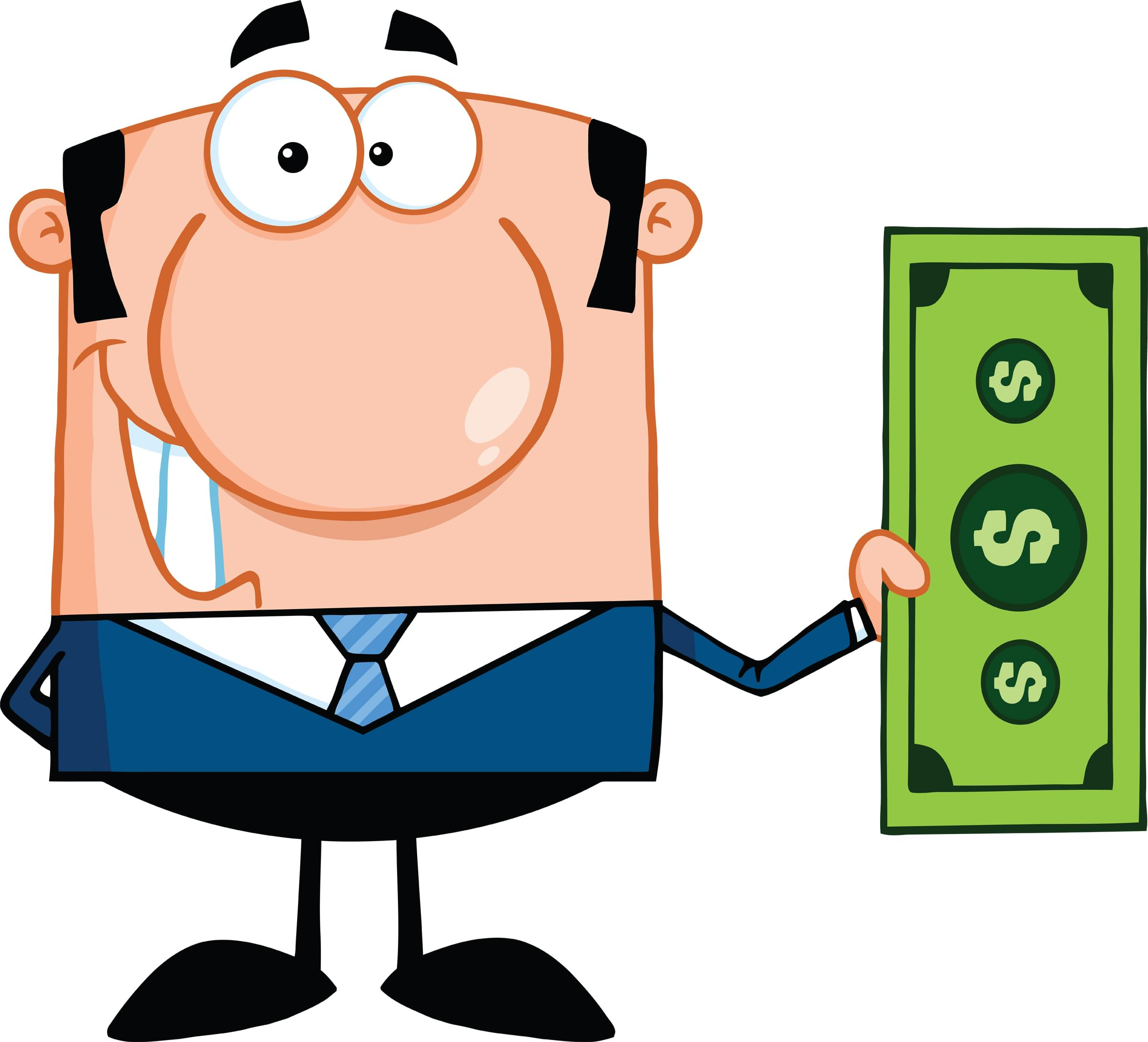 5567_smiling_business_man_holding_a_dollar_bill