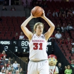 Freshman center Cain delivers big on Huskers' senior night