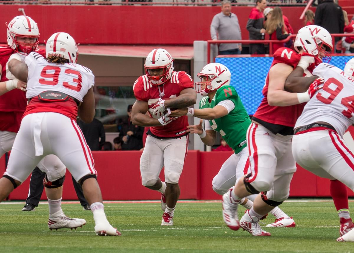 Huskers complete first fall practice in full pads, running back and quarterback battles wide open