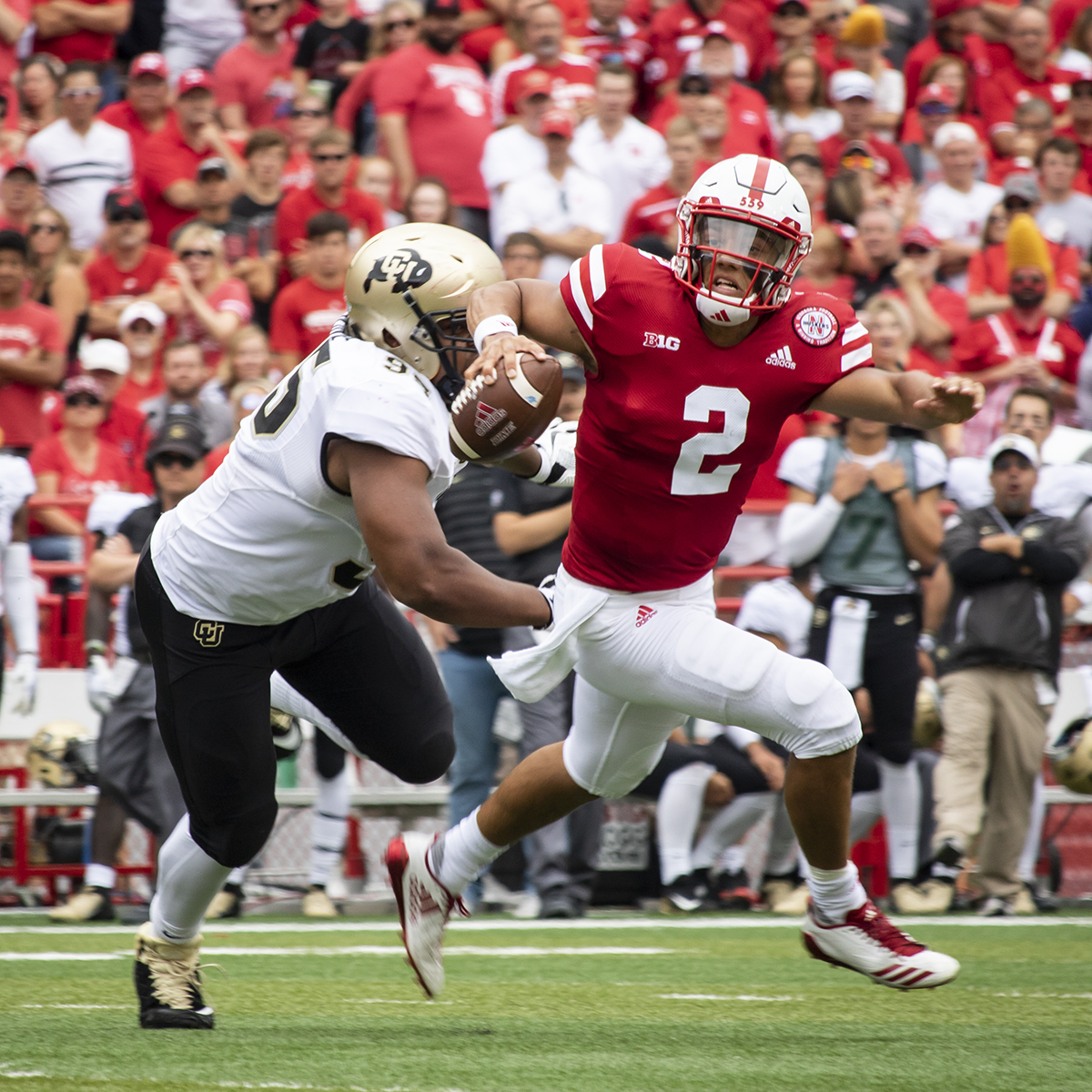 Husker QB Adrian Martinez Goes Down in Debut