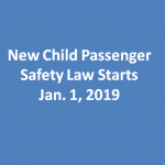 New Child Passenger Safety Law Starts Jan. 1, 2019