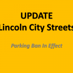 Lincoln Parking Ban Update:  Sunday Evening
