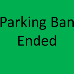 Snow Emergency Parking Ban Ended