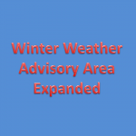 Winter Weather Advisory Area Expands – Possibly More Snow