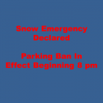 Snow Emergency Declared – Lincoln Parking Ban Tonight