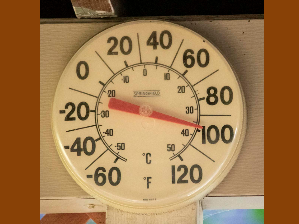 Thermometer at 100 degrees