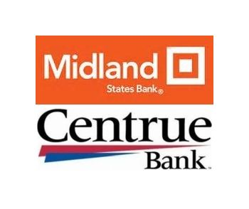 Midland Bank and Centrue Bank logos