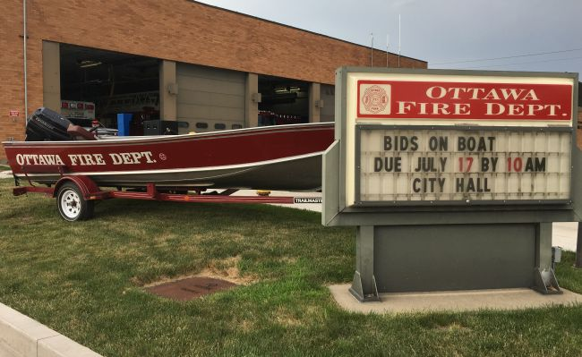 Ottawa Fire Department boat for sale