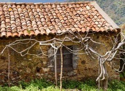 old abandoned country house in Sicilian mountains