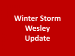 Winter Storm Wesley Expanding and Strengthing