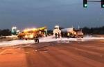 Environmental Clean Up Crews Work Into the Night Following Overturned Truck on Galena Avenue