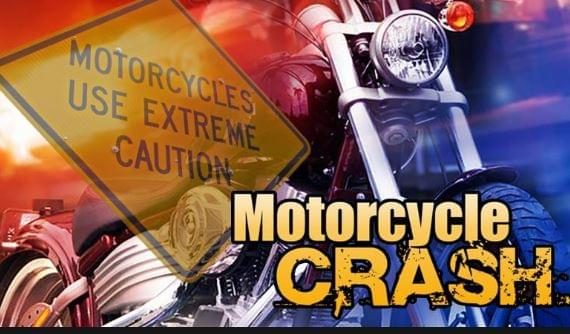 Motorcyclist Receives Multiple Injuries After Crash