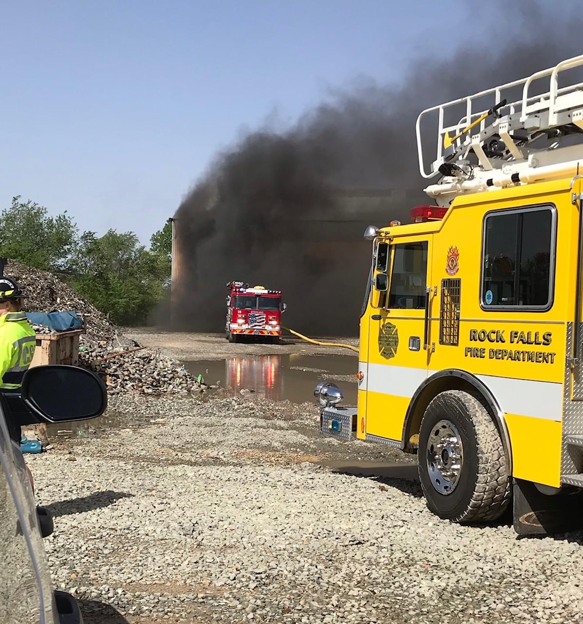 Fire Crews Battle Fire at Cimco Recycling Warehouse Wednesday Morning