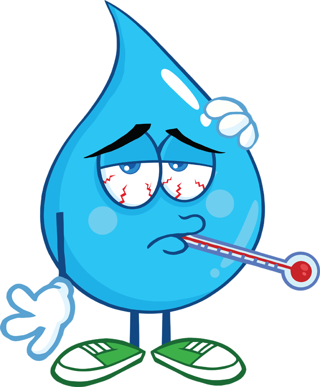 6226_sick_water_drop_character_with_thermometer