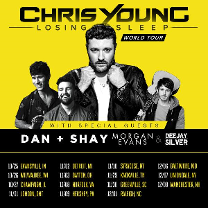 Chris Young with Dan + Shay and Morgan Evans