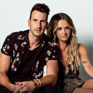 Russell Dickerson with Carly Pearce
