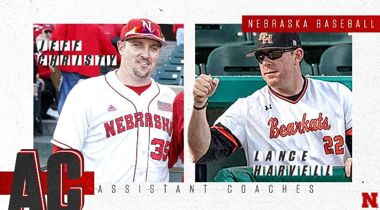 Huskers Officially Name Lance Harvell and Jeff Christy as Assistant Baseball Coaches