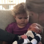 This Little Girl Gives The Best Reaction To New Sibling