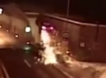 Crash Sends BMW Flying into Tunnel [VIDEO]