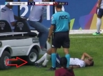 Injured Soccer Player Run-Over by Medical Cart [video]