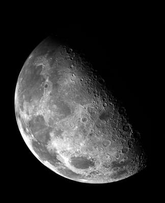 Moon in outer space.