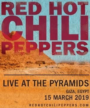 Chili Peppers Streaming Concert in Egypt