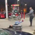Woman Steals $2 Hot Dog, Attacks Man w/ Gas Hose & Squeegee (video)