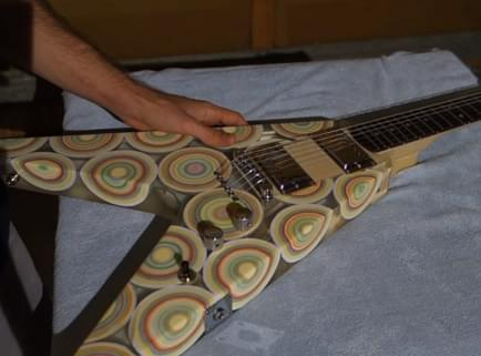 This Guy Built a Guitar Out of Jawbreaker Candies
