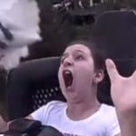 Girl Gets Rocked by Bird While Riding Roller Coaster [Video]