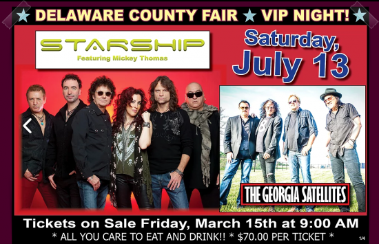 Starship starring Mickey Thomas and Georgia Satellites