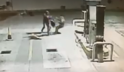 Gas Station Employees Adopt a Stray Dog, and It Fights Off Two Armed Robbers