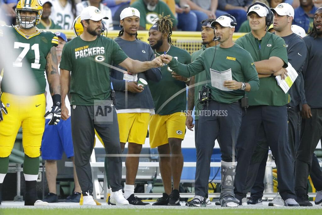 Aaron Rodgers on Sidelines