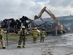 (10:30 UPDATE)  Old Section of Plastiflex building destroyed in Thursday morning fire