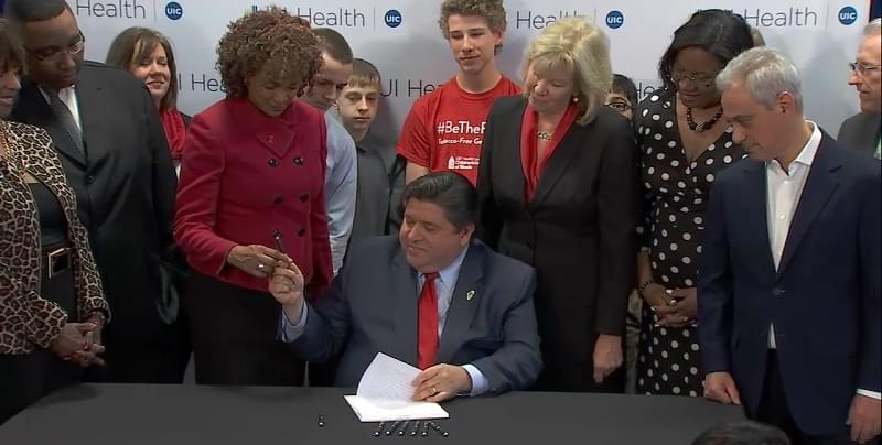Pritzker signs bill banning tobacco sales to Illinois minors