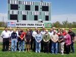 Centralia Rotary Club raises $200,000 to light first field at Rotary Park