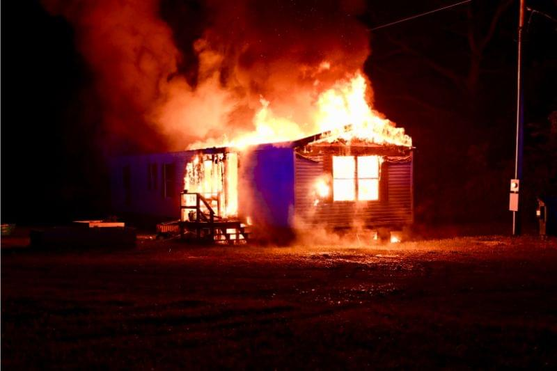 Rural Walnut Hill mobile home destroyed in early morning fire