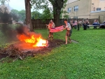 89 U.S. Flags retired in weekend ceremony at Salem Elks Lodge