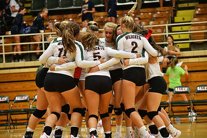 Salem Vball Hosts Central To Open Cahokia