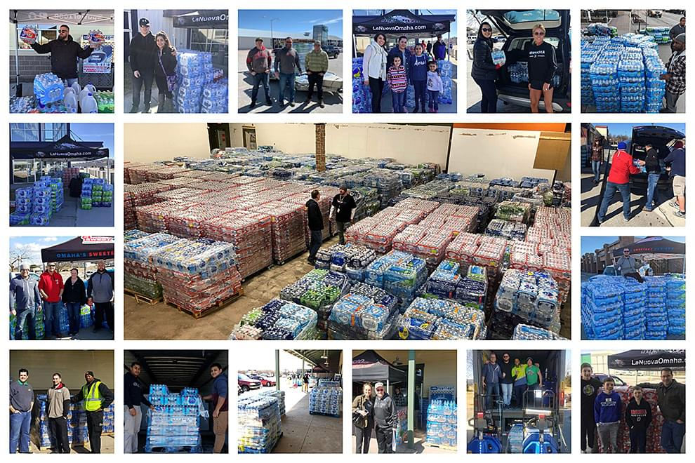 NRG Omaha Collects More Than 160K Bottles of Water for Flood Victims