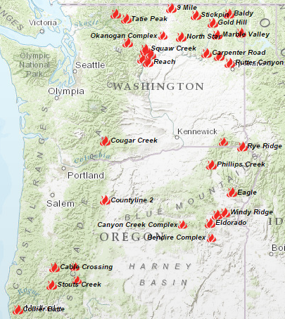 Washington State Wildfire Map Www Healthgain Store